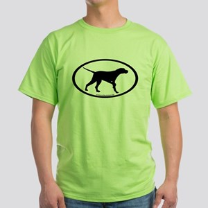 Pointer Dog Oval Green T-Shirt